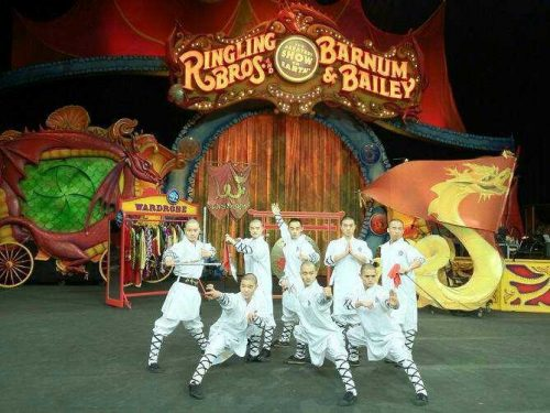 Ringling Bros Kung Fu Performance