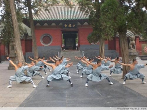 Shaolin Warrior at Shaolin Temple